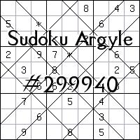 Argyle Sudoku №299940