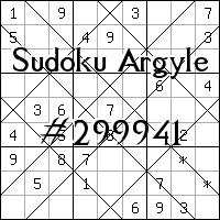 Argyle Sudoku №299941