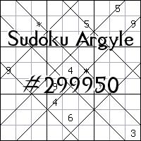 Argyle Sudoku №299950