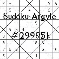 Argyle Sudoku №299951