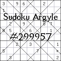 Argyle Sudoku №299957
