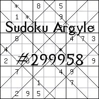 Argyle Sudoku №299958