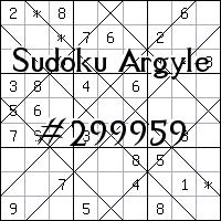 Argyle Sudoku №299959