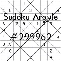 Argyle Sudoku №299962