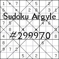 Argyle Sudoku №299970