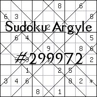 Argyle Sudoku №299972