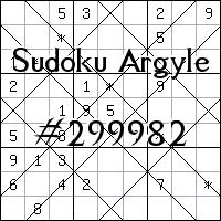 Argyle Sudoku №299982