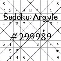 Argyle Sudoku №299989