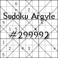 Argyle Sudoku №299992