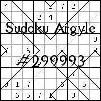 Argyle Sudoku №299993