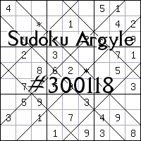 Argyle Sudoku №300118