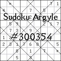Argyle Sudoku №300354