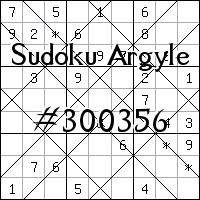 Argyle Sudoku №300356