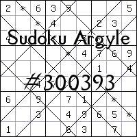 Argyle Sudoku №300393
