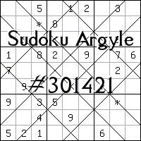 Argyle Sudoku №301421