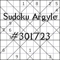 Argyle Sudoku №301723