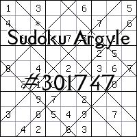 Argyle Sudoku №301747