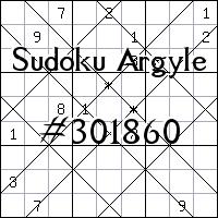 Argyle Sudoku №301860