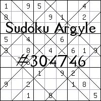 Argyle Sudoku №304746
