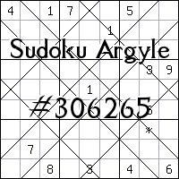 Argyle Sudoku №306265