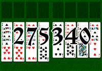 Solitaire №275340