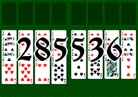 Solitaire №285536