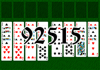 Solitaire №92515