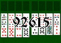 Solitaire №92615