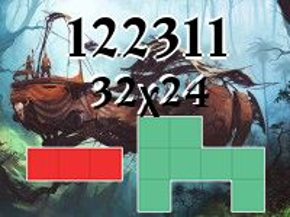 Puzzle polyominoes №122311