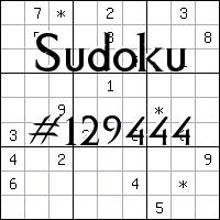 Sudoku №129444