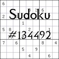 Sudoku №134492