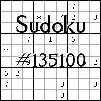 Sudoku №135100
