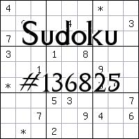 Sudoku №136825