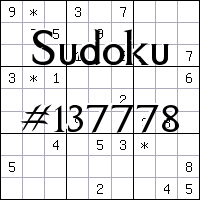 Sudoku №137778