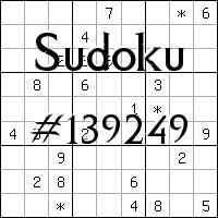 Sudoku №139249