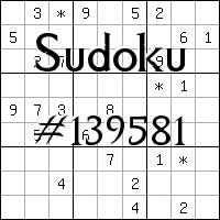 Sudoku №139581