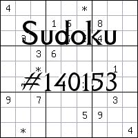 Sudoku №140153