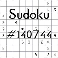 Sudoku №140744