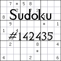 Sudoku №142435