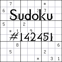 Sudoku №142451