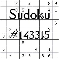 Sudoku №143315