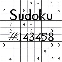 Sudoku №143458