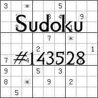 Sudoku №143528