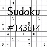 Sudoku №143614