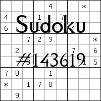 Sudoku №143619