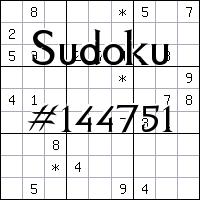 Sudoku №144751