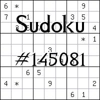 Sudoku №145081