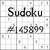 Sudoku №145899