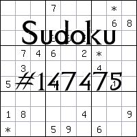 Sudoku №147475