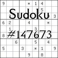Sudoku №147673